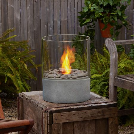 I Love This Firepot No Mess Clean Burning Gel Fuel River Stones Included Tabletop Firepit Outdoor Fire Fire Pit