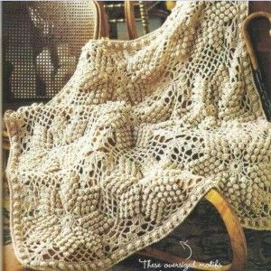 bobble star crochet blanket pattern 1/2