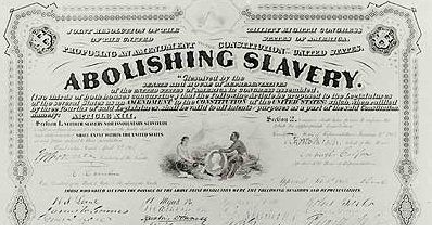 Image result for 13th amendment ratified 1865