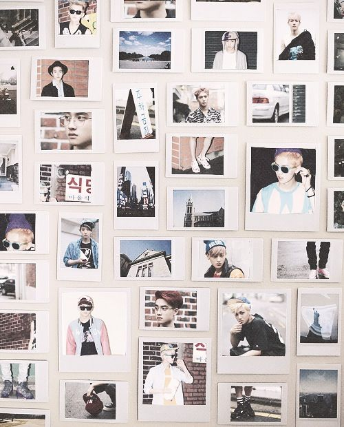 Cool Polaroid Arrangement Use Instead Of Wallpaper Wall Of Photos