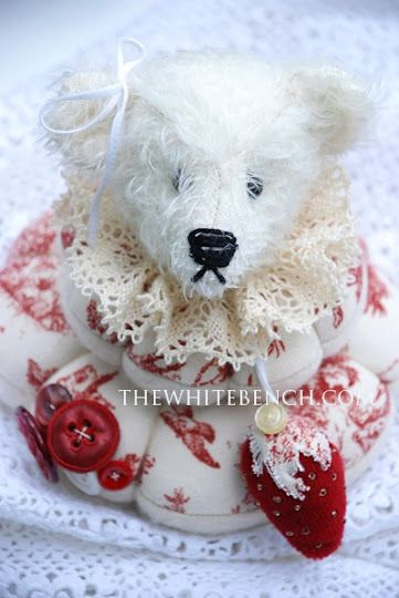 Love this Teddy Head pin cushion.... Hand made...I have several bear ...