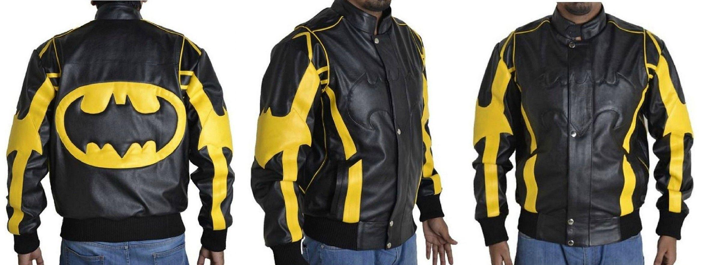 Inspiring From The Batman Character Xtreemleather Present Batman Black Yellow Leather Jacket To All Batman Fans This T Leather Jacket Jackets Black N Yellow [ 884 x 2347 Pixel ]