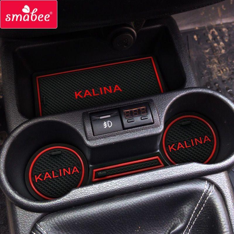 Autodeur groef mat Voor Lada Kalina Accessoires, 3D Rubber Mat Poort slot pad antislipmatten auto decoratie