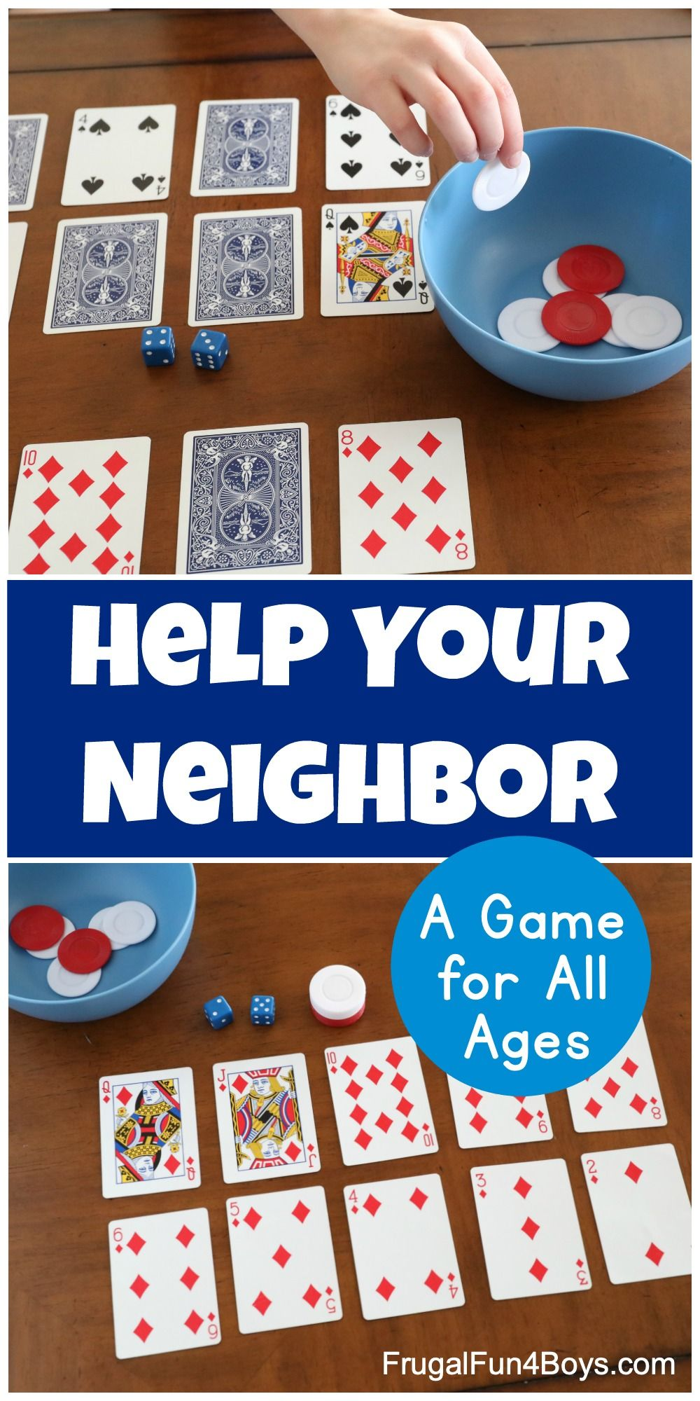 How To Play Help Your Neighbor A Fun Family Card Game Frugal Fun For Boys And Girls Family Card Games Card Games For Kids Games To Play With Kids