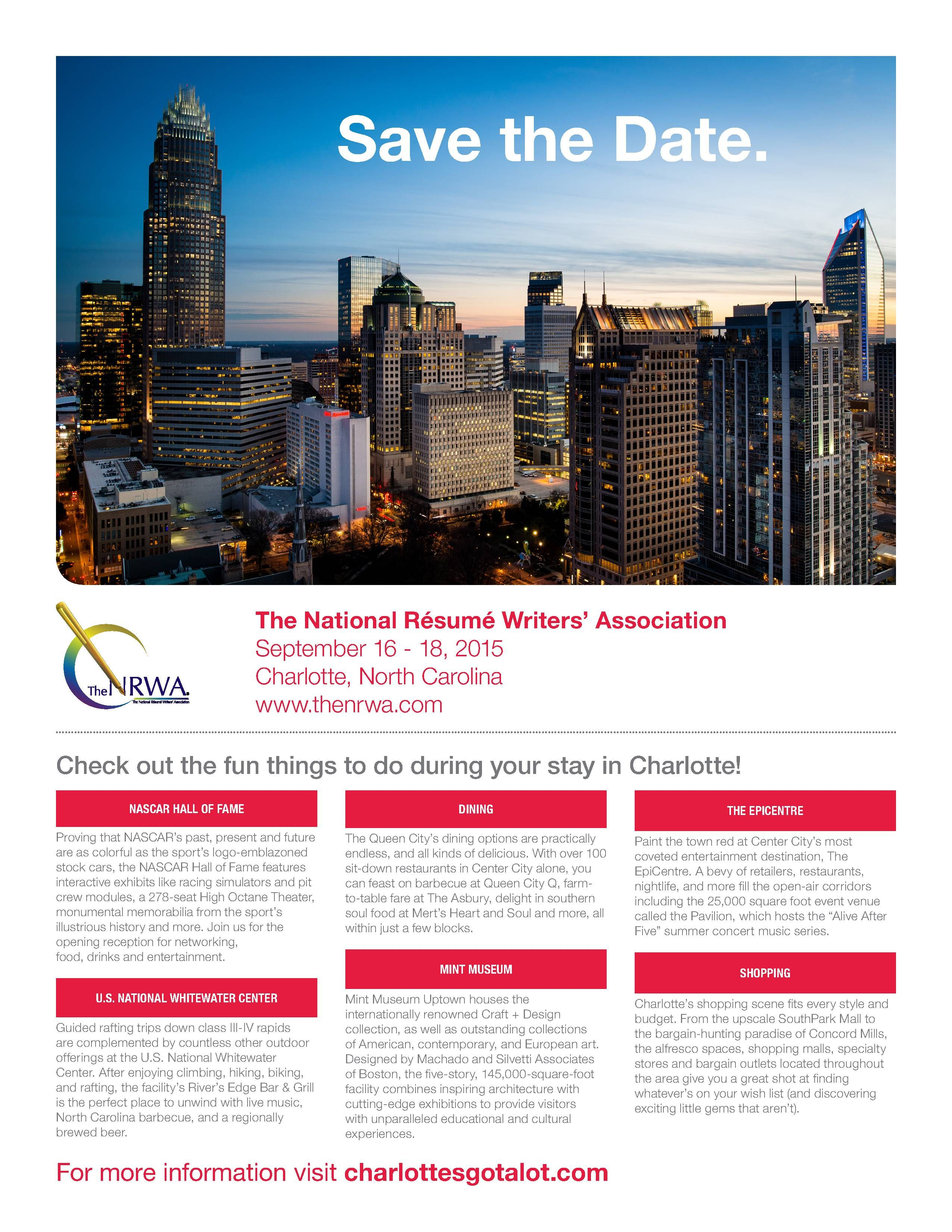 Resume Writers Association The National Resume Writers' Association  Save The Date  The Nrwa .