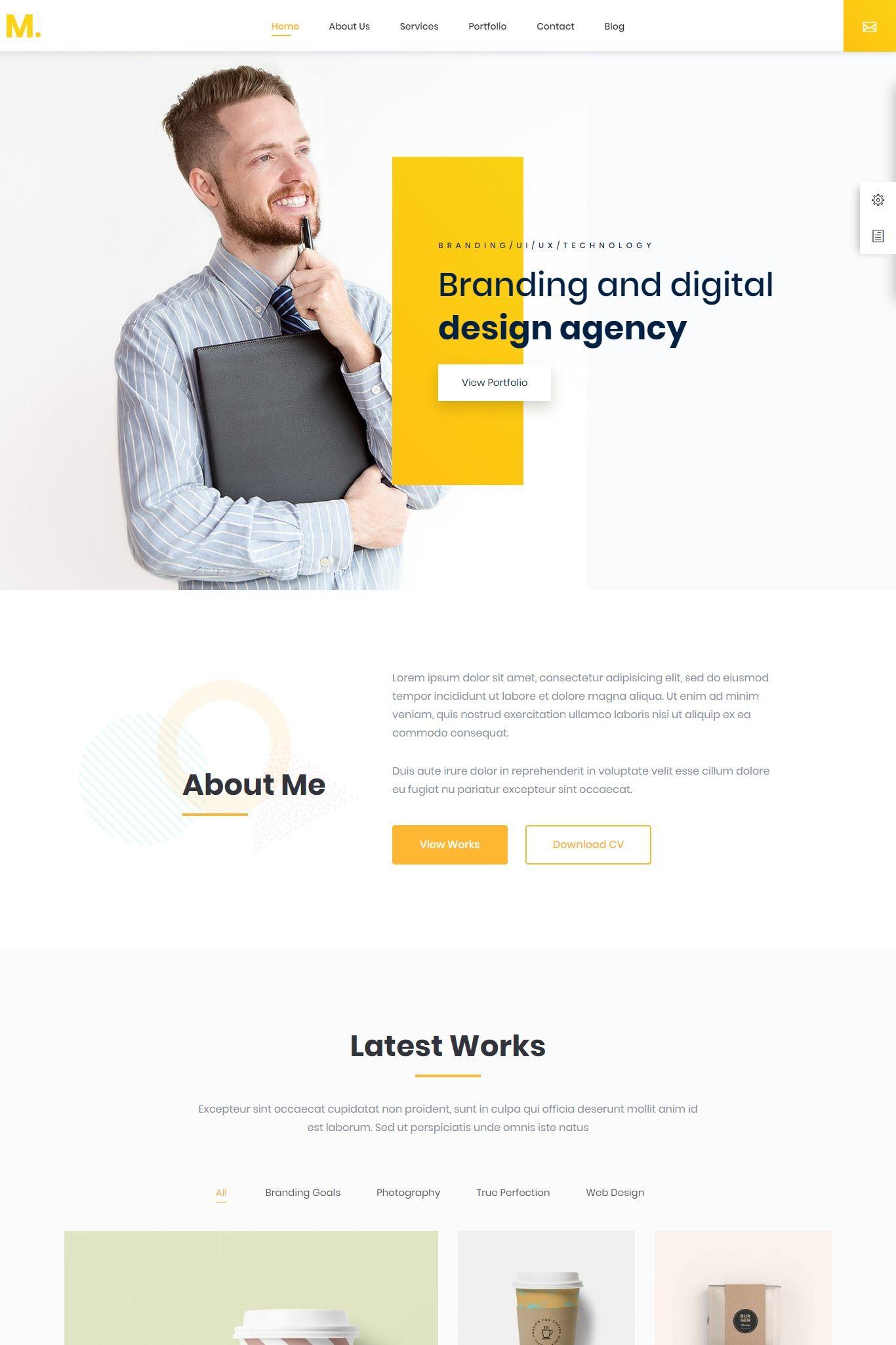 Mak Personal Portfolio Resume Wordpress Theme Portfolio Web Design Personal Website Design Medical Website Design