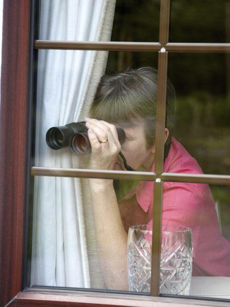 Fenster durch Spionage Nachbar Nachbar