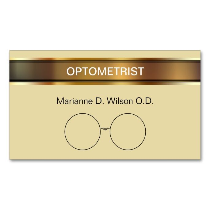 Optometrist Business Cards Make Your Own Business Card With This