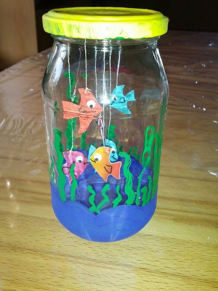 Pflegeleichtes Aquarium Basteln Fur Kindergartner Fische Basteln Ozeankunst