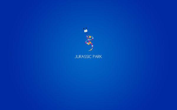 minimalist jurassic park