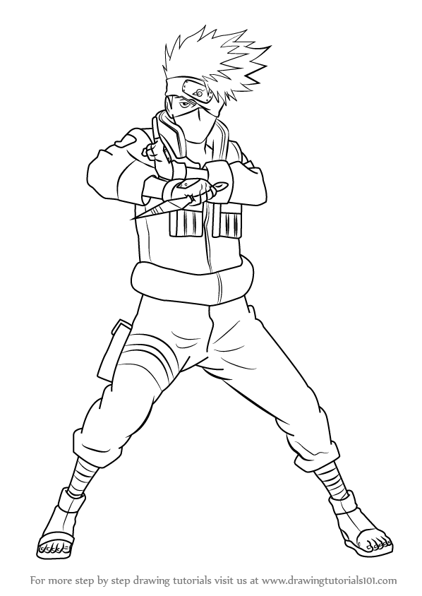 Kakashi drawing step by step