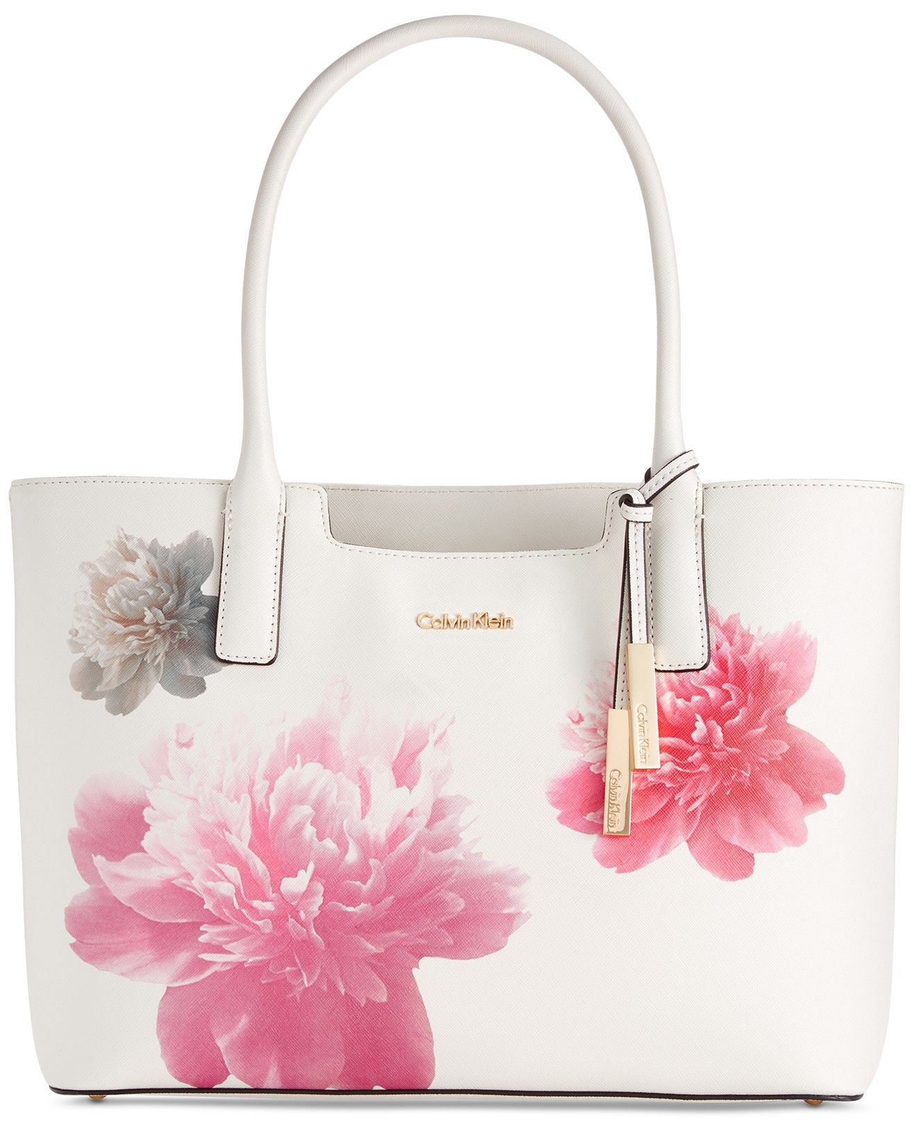 4c84a1604b Calvin Klein Peony Saffiano Tote - Calvin Klein - Handbags & Accessories -  Macy's