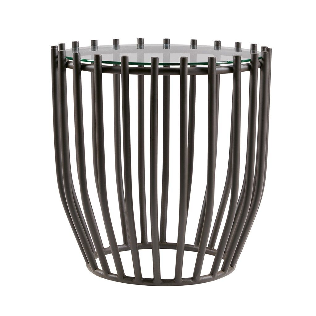 Madison Park Jaxton End Table Metal Drum End Tables Madison Park