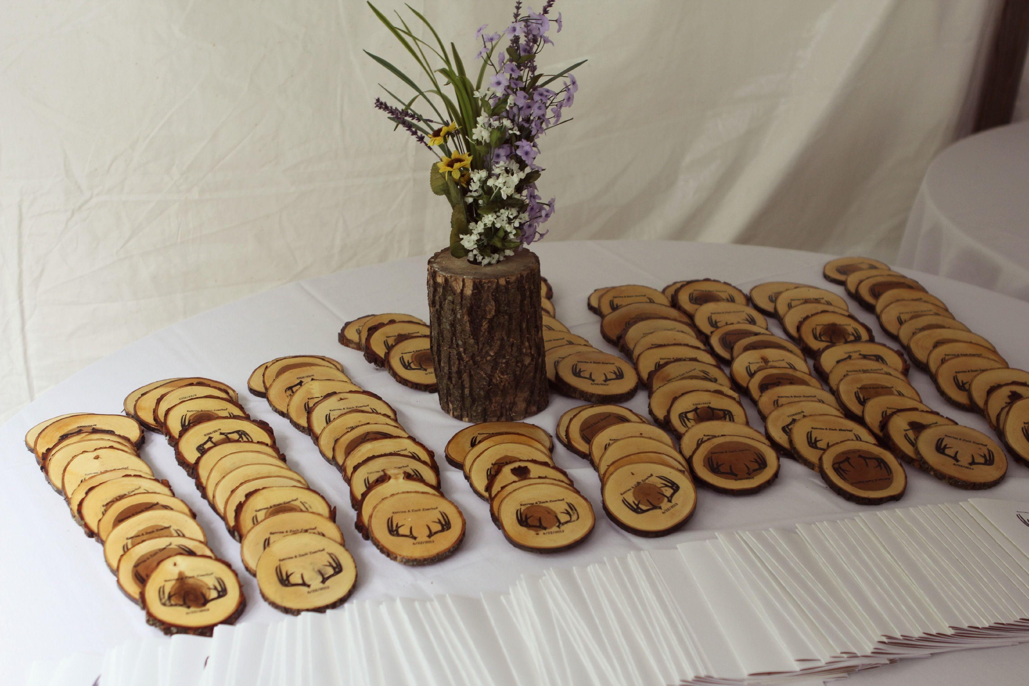 Wedding Favors/ Wood Coasters