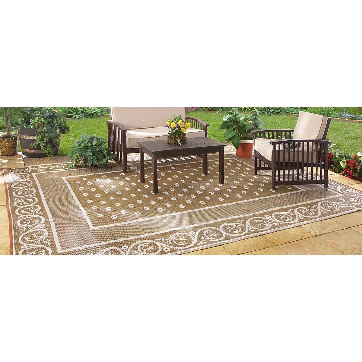 Amazon.com : Guide Gear 9x12u0027 Reversible Patio / RV Mat : Outdoor Rugs For  Patios : Patio, Lawn U0026 Garden