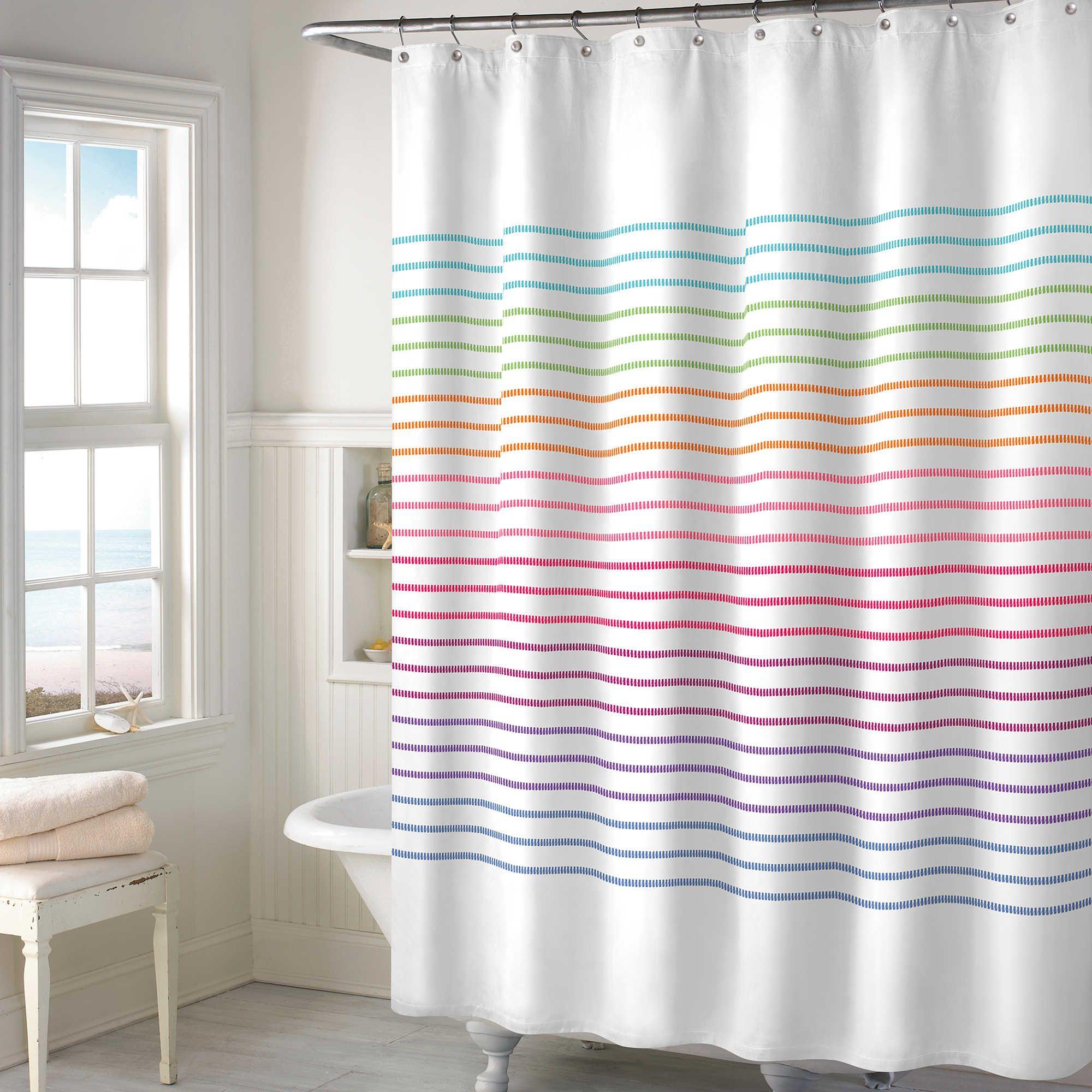 Color Stitch Shower Curtain   Kid Bathroom   Pinterest   Kid ...