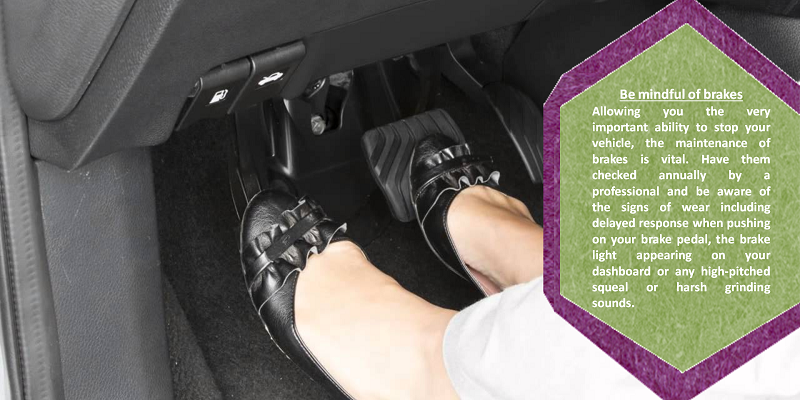 Brakes If your brake pedal is soft and mushy, hard and