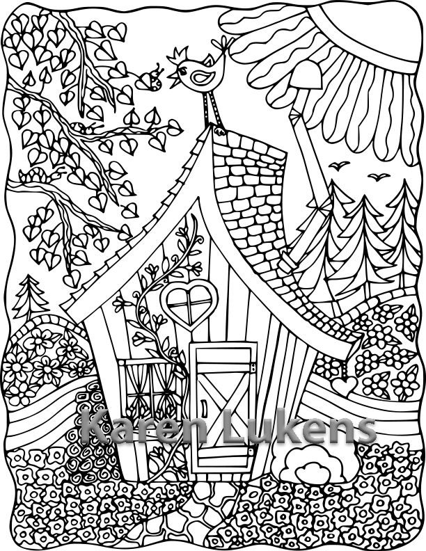 karen lukens artist one of my adult coloring book pages