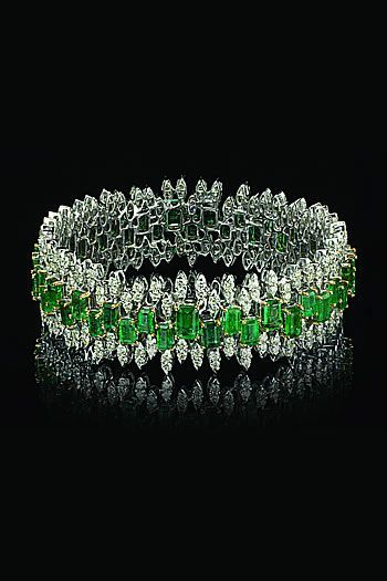 Varuna D Jani Emerald and Diamond Bracelet ......