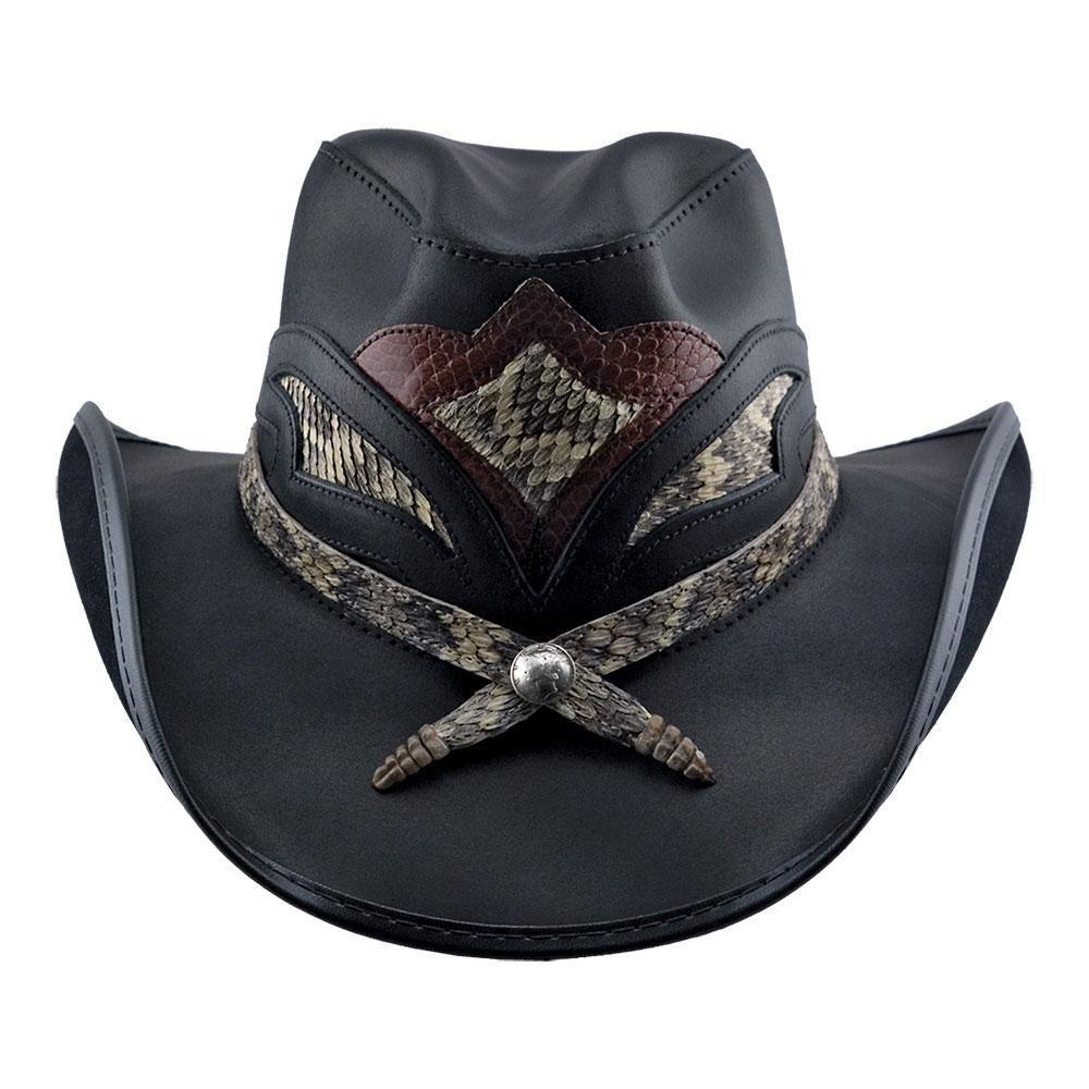 Storm Cowboy Hat Rattlesnake Skin Band Leather Cowboy Hats Cowboy Hats Leather Hats