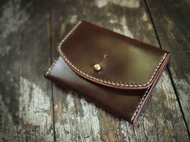 Shell Cordovan Coin/Card case   Flickr - Photo Sharing!