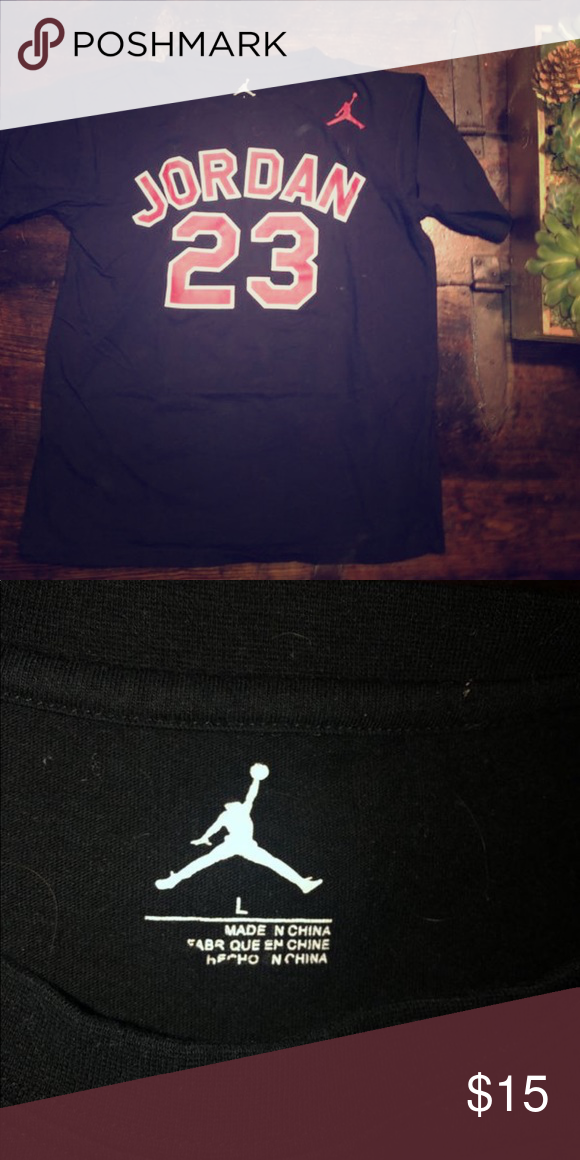 a5ccb7e8fd96 Jordan 23 T-shirt Black Jordan 23 T-Shirt Boys Large fits like a women s  smedium 😝 Jordan Shirts   Tops Tees - Short Sleeve