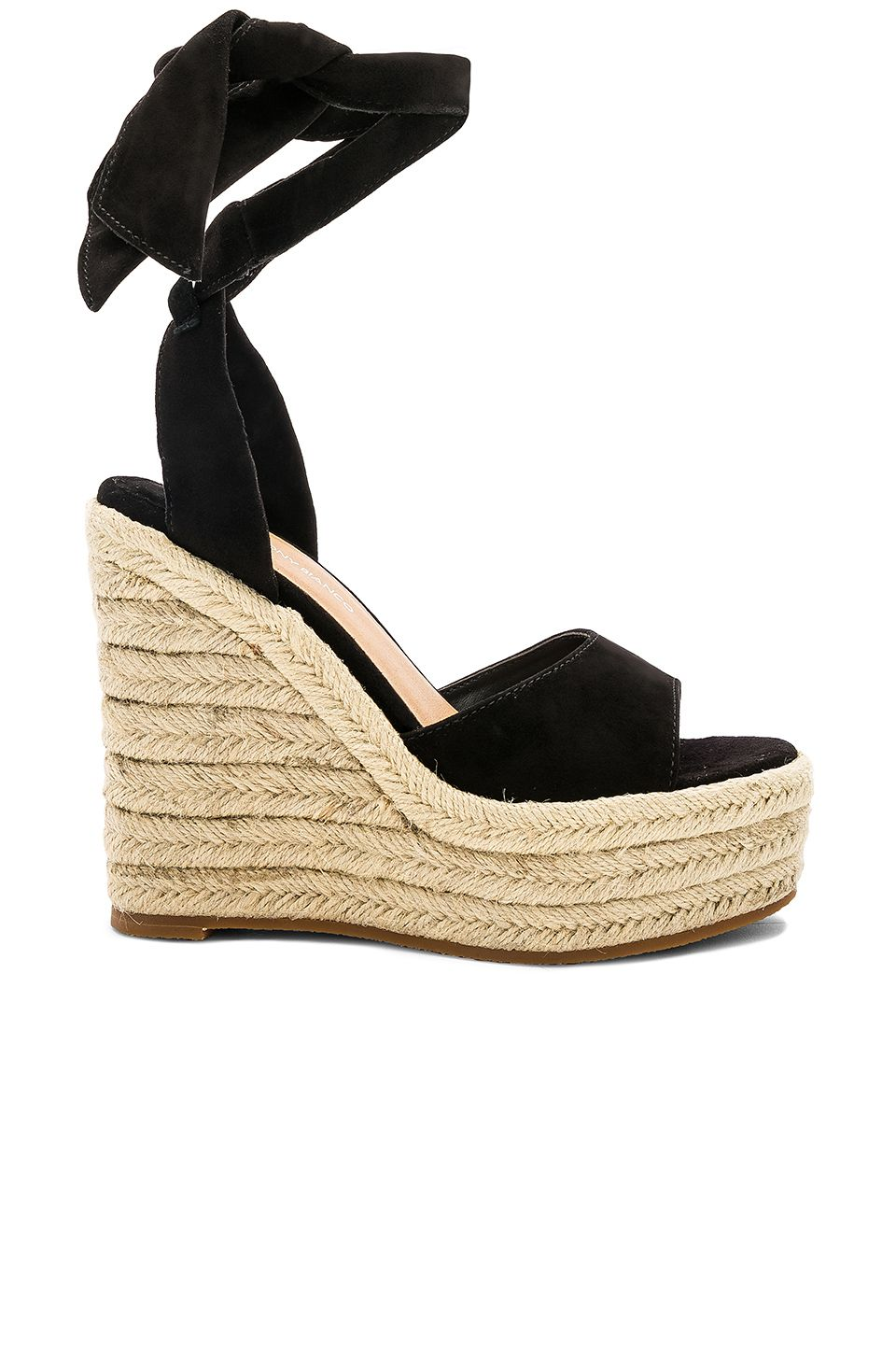 67a930831f3 Tony Bianco Barca Wedge in Black Kid Suede