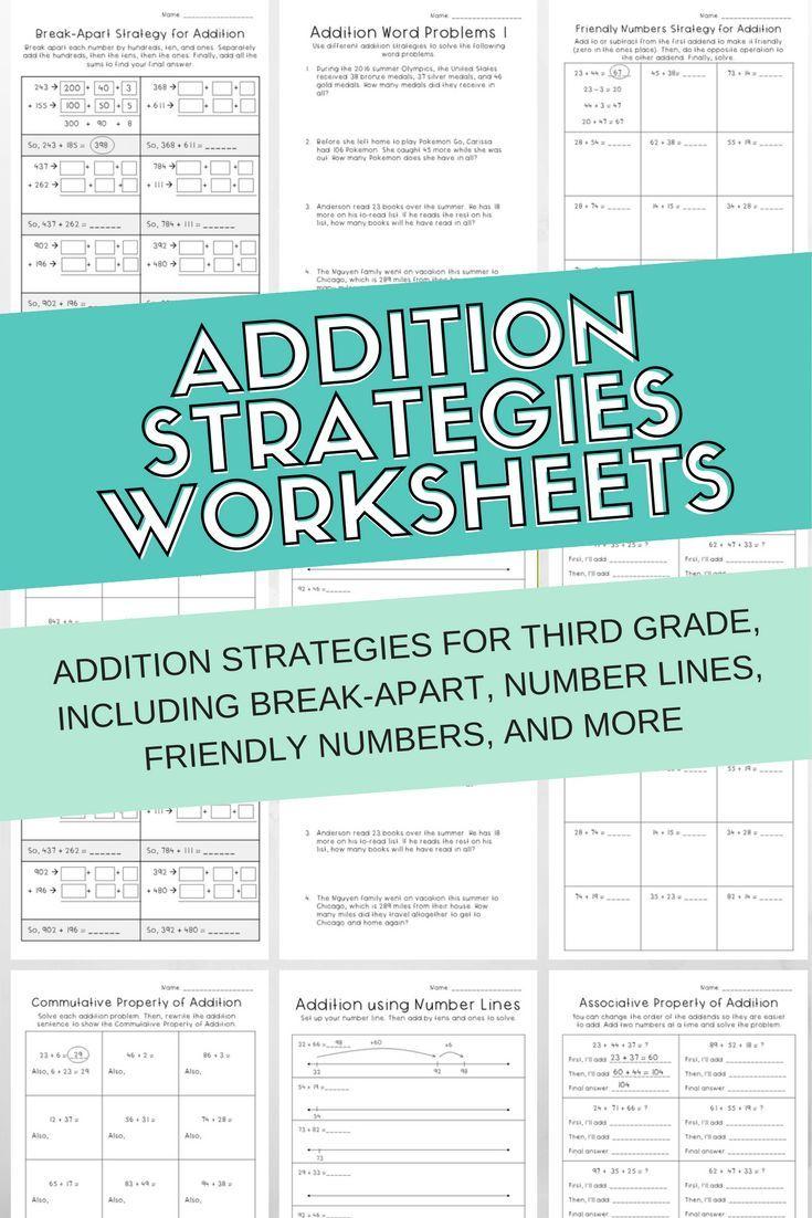 worksheet. Addition Strategies Worksheets. Carlos Lomas Worksheet ...