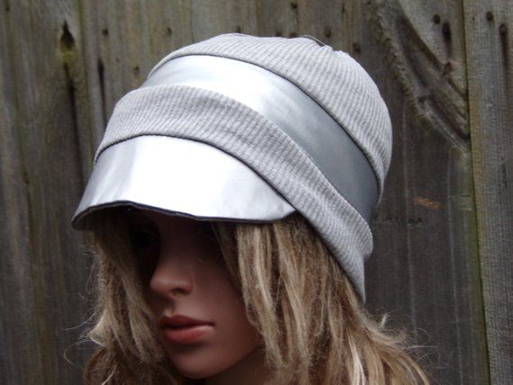 2ba549ab0f3 Newsboy Slouchy Hat With Visor  Cotton Beanie Hat  Hats for Cancer  Patients