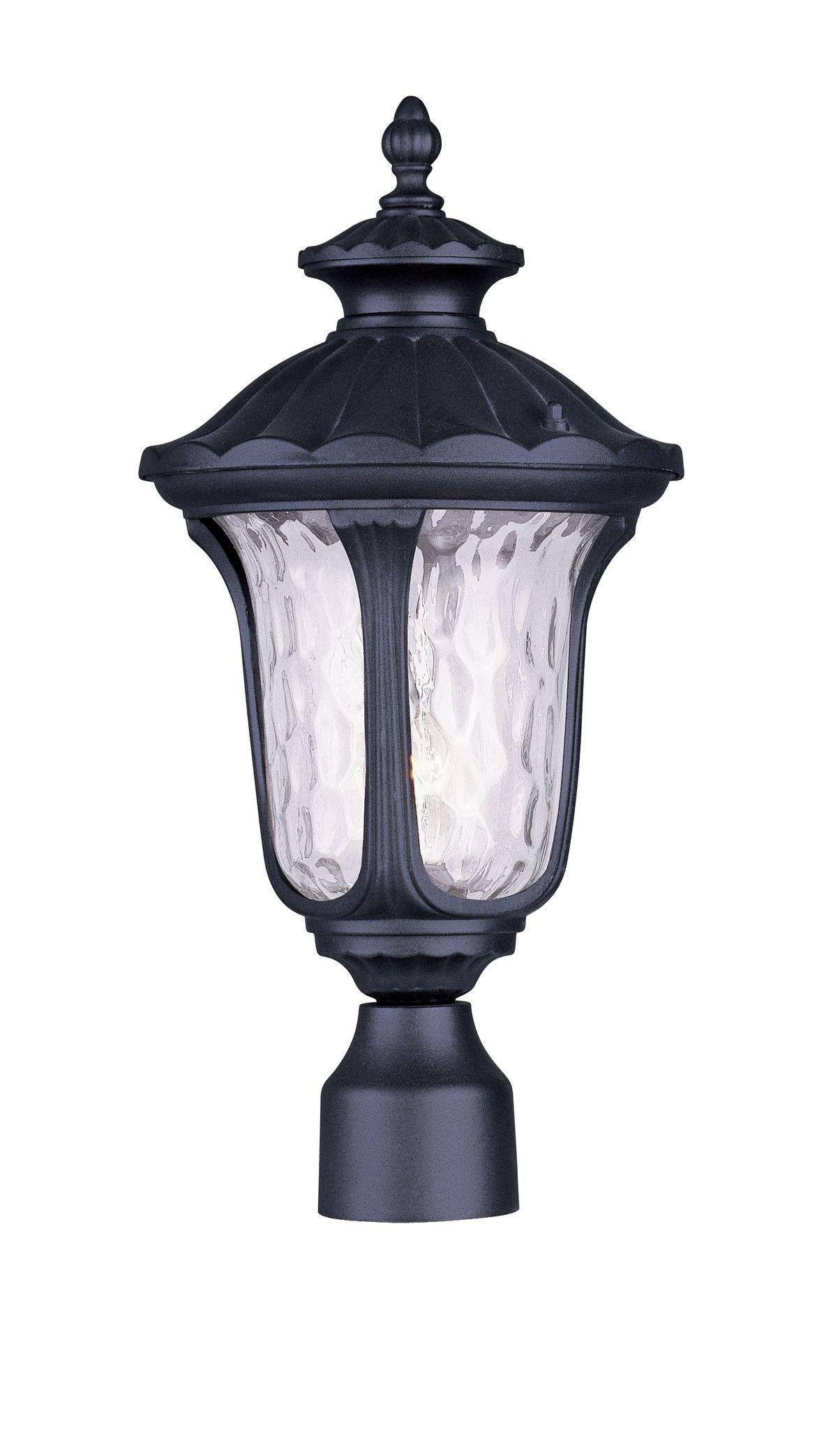 Livex Lighting 7855 04 Oxford Post Mount Black Outdoor Post Lights Post Lights Livex Lighting