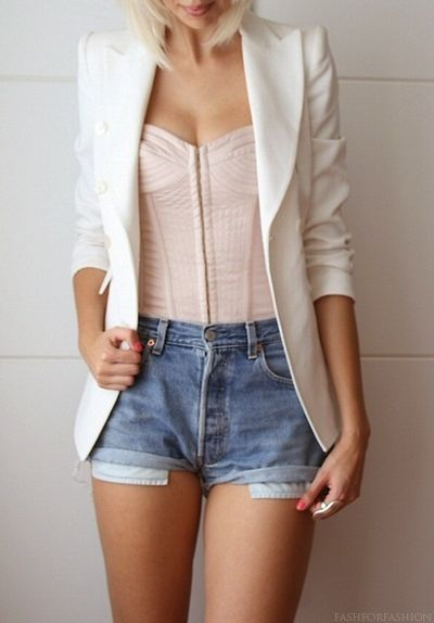 053f28616d7f Work first, play later  Blazers (29 photos)   Corset fashion ...