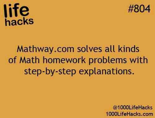 Mathway Com 1000 Life Hacks School Hacks Life