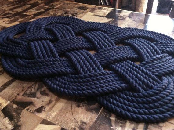 Nautical Decor Nautical Bathmat Navy Blue Cotton Nautical Mat And Rug