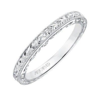 Artcarved Iva Diamond Hand Engraved And Milgrain Wedding Band Hand Engraved Wedding Band Milgrain Wedding Bands Womens Wedding Bands