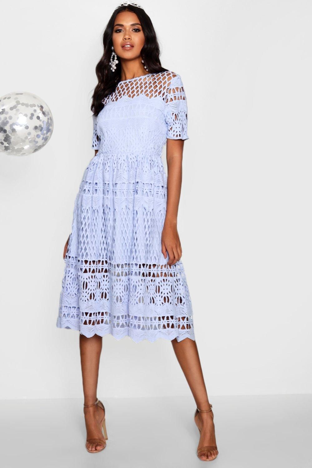 742b5fd5da3e6 Click here to find out about the Boutique Corded Lace Panelled Skater Dress  from Boohoo, part of our latest Boohoo Boutique collection ready to shop  online ...