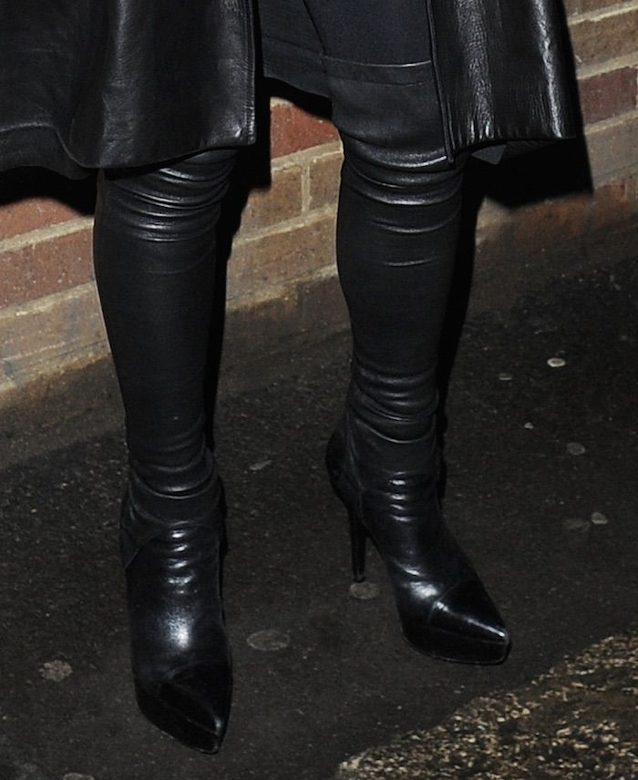 Lohan Channels Cat Woman in Thigh-High Boots