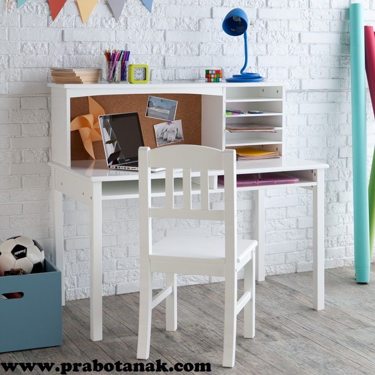 Classic Playtime Vanilla Student Desk With Optional Shelves   Kids Desks At  Hayneedle