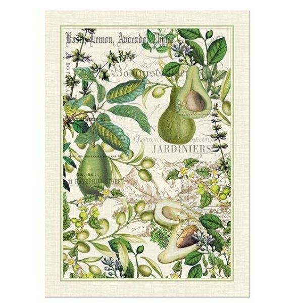 Avocado Tea Towel By Michel Design Works With Images
