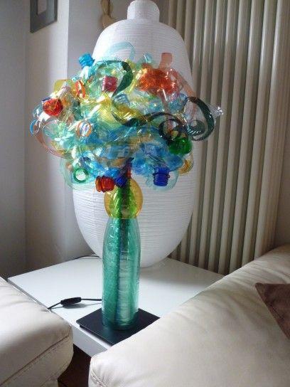 Bricolage Con Bottiglie Di Plastica.Lampada Con Le Bottiglie Di Plastica Fai Da Te Lampade