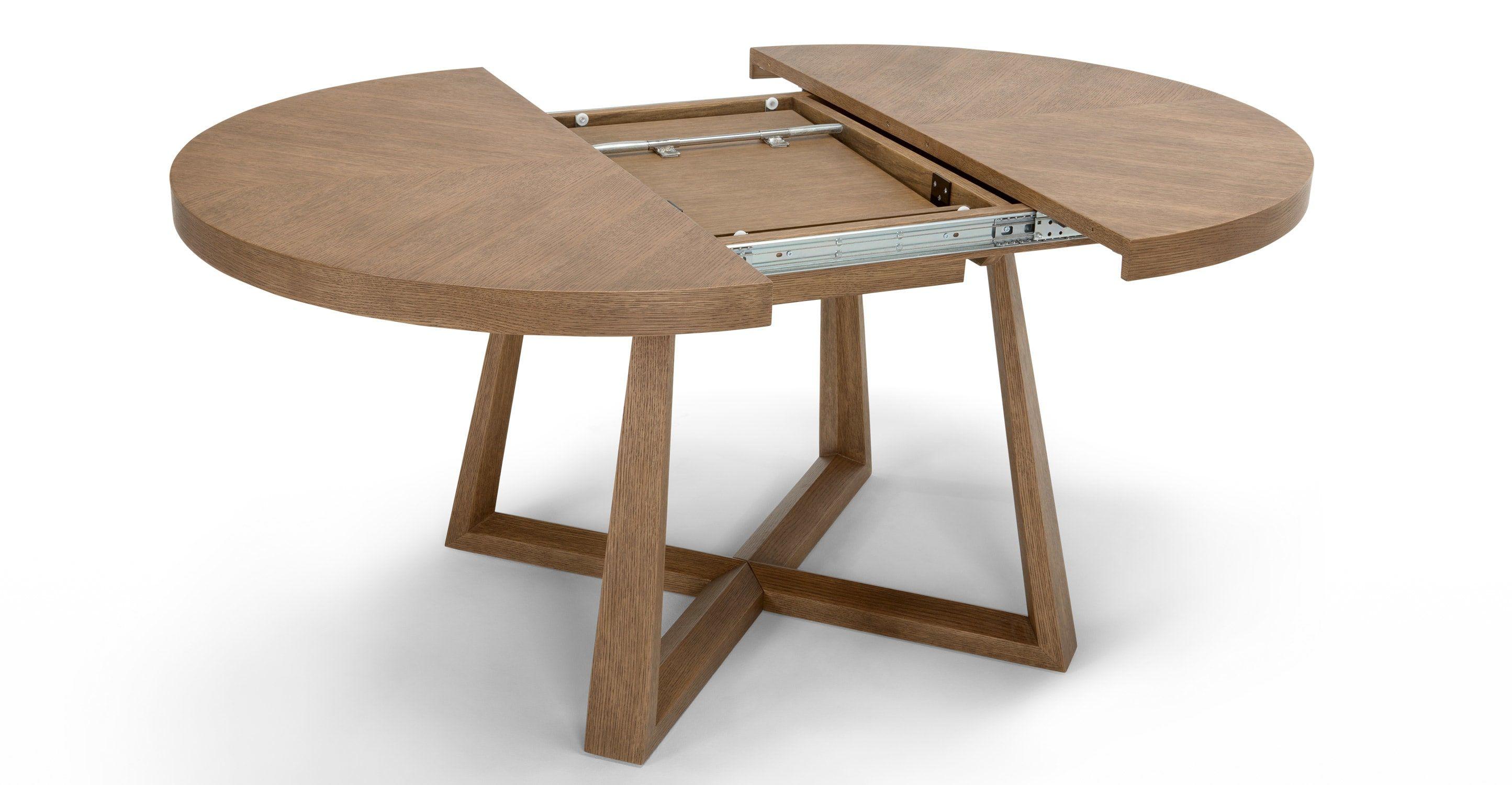 Belgrave, table à rallonges, chêne teinté table et