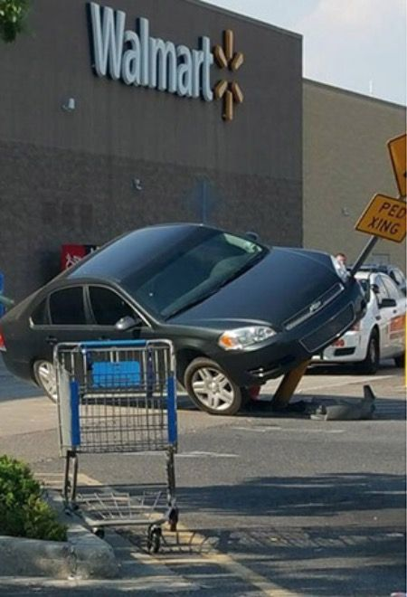 Tight Spot. --Walmart Parking Lot Fail - Funny Pictures at Walmart http://ibeebz.com