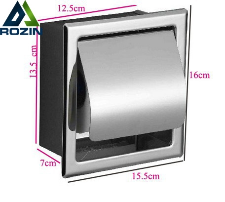 13.80$  Watch here - http://alio5y.shopchina.info/1/go.php?t=1002218281 - Luxury 304 Stainless Steel Bathroom Toliet Roll Paper Holder Box Concealed  Wall Mounted  (CZJ-001)  #aliexpressideas
