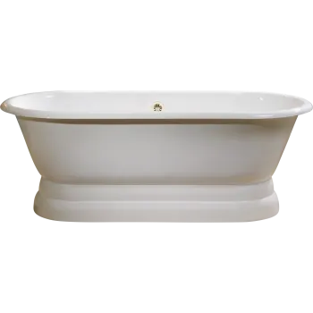 Cheviot 2139 Regal Cast Iron Bath With Cast Iron Pedestal Base And