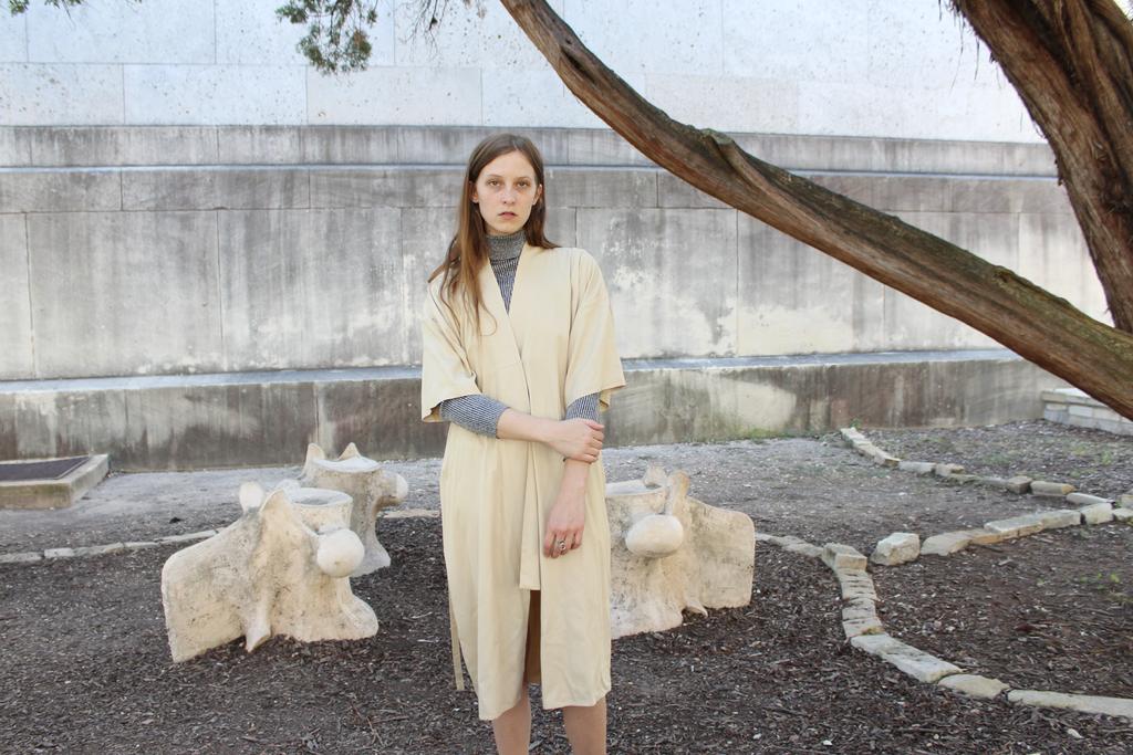 Shaina Mote Kimono Robe Dress Sand