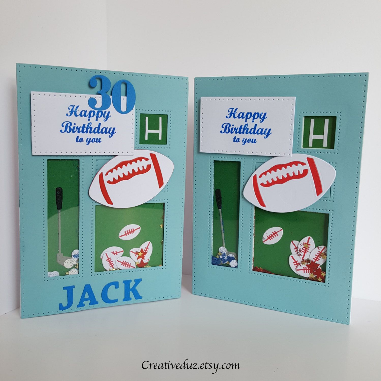 Personalised Rugby And Golf Shaker Birthday Card Male Cards For Men Customised Age 60 30 21 18 By CreativeDuz