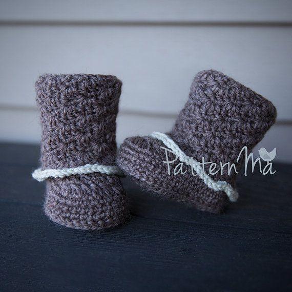 Crochet Baby Boot Pattern PDF | Pinterest | Bebé y Patrones