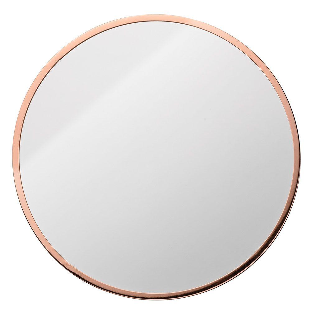 Metalframe miroir rond cuivre bloomingville meubles for Miroir hexagonal cuivre