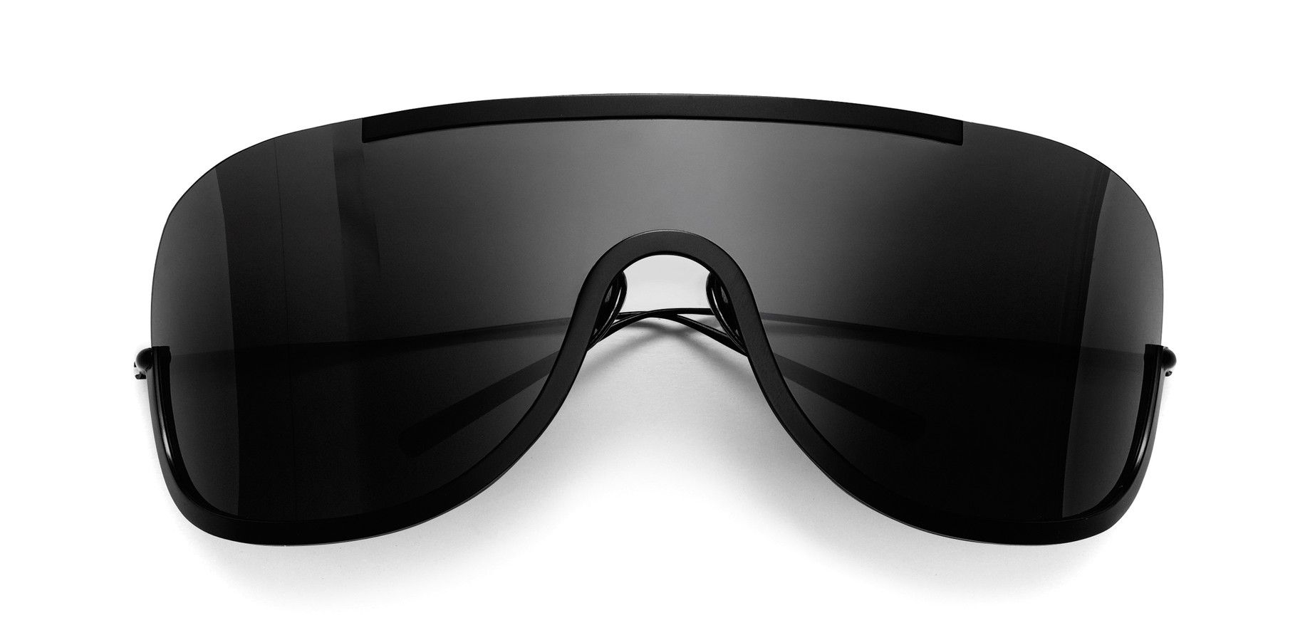 cd7f52ed42c6 Acne Studios Mask Junior Black Oversized sunglasses