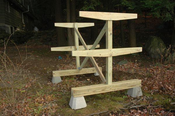 Freestanding Storage Rack Wooden Boat