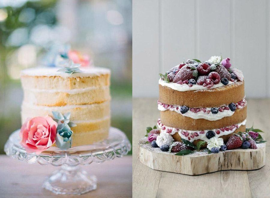 Torta Matrimonio Rustico : Pastel a la vista naked cake